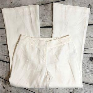 Worthington White Linen pants size 8